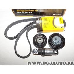Kit courroie accessoire galets + tendeur + courroie 6PK1538 Continental 6PK1538K2 pour BMW E38 E39 E46 E53 essence serie 3 5 7 X