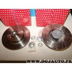 Paire disques de frein arriere plein 274mm diametre avec roulement de roue Redtop REDD053 pour renault scenic 2 II avec ABS
