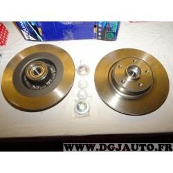 Paire disques de frein arriere plein 300mm diametre avec roulement Redtop REDD034 pour renault espace 4 IV vel satis velsatis