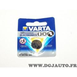 Pile ronde clé télécommande Varta CR1616 DLU 01/2027