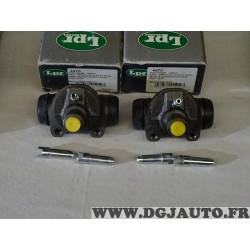 Lot 2 cylindres de roue frein arriere LPR 4470 pour iveco daily 1