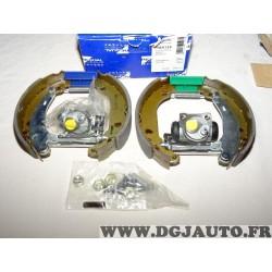 Kit frein arriere prémonté 180x40mm montage bendix Requal RSK124 pour renault 19 R19