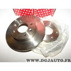 Paire disques de frein avant 238mm diametre plein Redtop REDD018 pour renault clio 1 express super 5 twingo