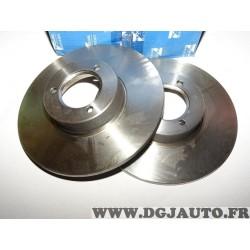 Paire disques de frein avant 244mm diametre plein Requal RDP227 pour citroen C15 LNA visa peugeot 104