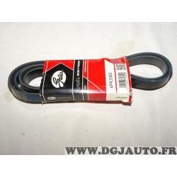 Courroie accessoire Gates 6PK2083 pour BMW E46 E53 E60 E61 E63 E64 E65 E66 E67 E87 serie 3 5 6 7 X3 X5 cadillac CTS chrylser 300