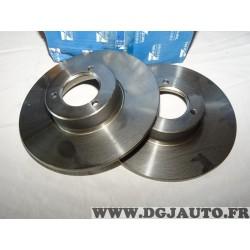Paire disques de frein avant plein 244mm diametre Requal RDP227 pour citroen C15 LNA visa peugeot 104