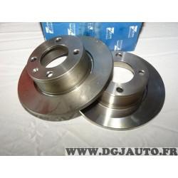 Paire disques de frein arriere plein 251mm diametre Requal RDP187 pour citroen xantia break