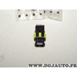 1 Cosse connecteur branchement cable faisceau electrique 2 voies 1.5mm2 Restagraf 17028