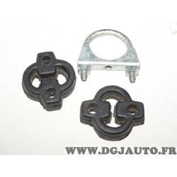 Kit silents bloc avec collier serrage fixation silencieux echappement Walker 85033 pour nissan micra K10 1.0 1.2 essence