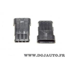 1 Cosse connecteur branchement cable faisceau electrique 4 voies 1.5mm2 Restagraf 17033