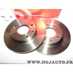 Paire disques de frein avant plein 247mm diametre Brembo 08298510 pour citroen C15 saxo visa ZX peugeot 106 205 206 306 309 405