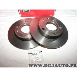 Paire disques de frein arriere plein 245mm diametre Brembo 08913611 pour audi A4 B6 B7 seat exeo