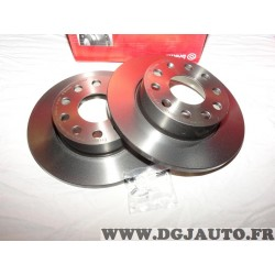 Paire disques de frein arriere plein 256mm diametre Brembo 08948811 pour audi A3 seat altea toledo 3 III skoda octavia 2 II supe