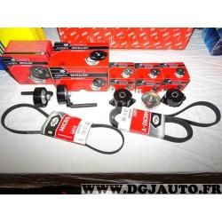 Kit courroie accessoire 5 galets + courroie 6PK2083 + 4PK970 Gates K026PK2083 pour BMW serie 3 E46 318D 320D 320TD 2.0 D TD dies