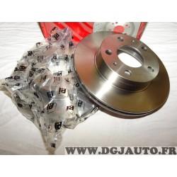 Paire disques de frein avant 300mm diametre plein Eicher 1047350549 pour citroen jumper peugeot boxer fiat ducato 1 de 1994 à 20