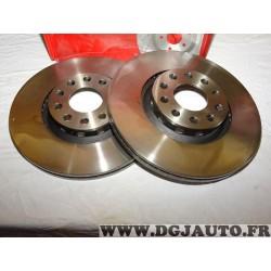Paire disques de frein avant 312mm diametre ventilé Eicher 104440919 pour audi A4 A6 seat exeo skoda superb volkswagen passat B5