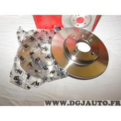 Paire disques de frein avant 256mm diametre plein Eicher 104440329 pour seat cordoba 1 ibiza 2 II inca toledo volkswagen caddy 2