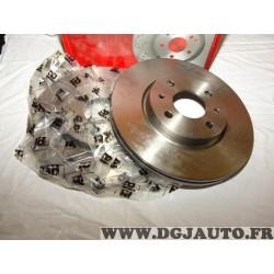 Paire disques de frein avant 257mm diametre ventilé Eicher 104580229 pour alfa romeo 145 146 155 mito fiat 500 bravo 2 II doblo