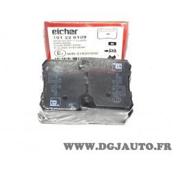 Jeux 4 plaquettes de frein arriere montage teves Eicher 101220109 pour mercedes 190 W201 classe C E W202 W124