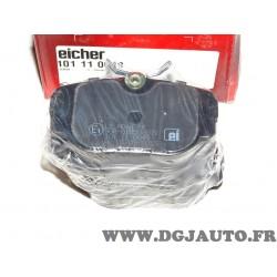 Jeux 4 plaquettes de frein avant montage lucas Eicher 101110049 pour BMW serie 3 Z1 E30