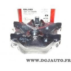 Jeux 4 plaquettes de frein arriere montage teves Eicher 101110599 pour BMW serie 1 3 X1 E81 E82 E84 E87 E88 E90 E91 E92 E93 F30