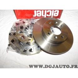Paire disques de frein avant 238mm diametre plein Eicher 104745269 pour renault 9 11 R9 R11 clio 1 super 5 twingo 1 express daci